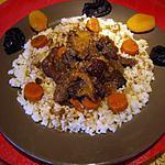 recette Tajine de joue de boeuf aux fruits et légumes