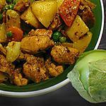 recette Poulet à la sauce de tomates vertes et ses fruits