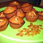 recette Muffins aux raisins secs et au rhum