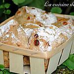 recette Petits pains au cumin et raisins secs
