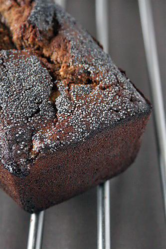 cake banane , Melasse noire, pavot , Julie A
