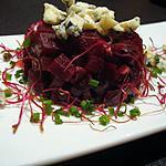 recette Betteraves rouges en tartare et Bleu d'Auvergne