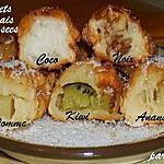 recette Mes petits Beignets aux fruits frais et aux fruits secs