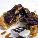 recette Tartelettes au caramel au beurre salé, noix et chocolat