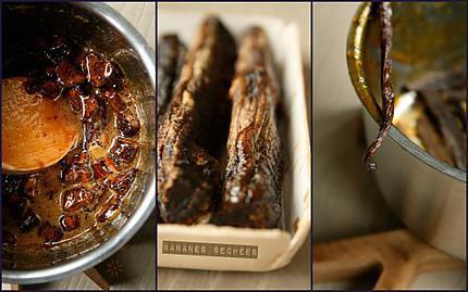 Crème renversée caramel de bananes sechées & rhum 4 s