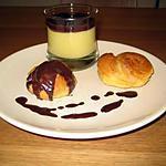 recette Petits choux crème vanille et chocolat
