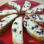 recette croquants aux cranberries