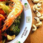 recette Un petit sauté de crevettes aux légumes croquants
