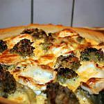 recette Tarte aux brocolis et au chèvre