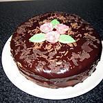 Gâteau aux framboises crème fraîche et ganache