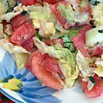 recette salade  trés fraiche