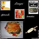 recette lasagne épinard, tomates