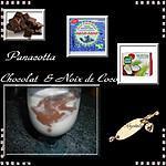 recette pana cotta chocolat & noix de coco