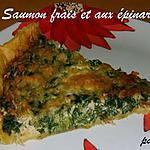 recette Tarte au saumon frais et aux épinards