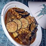 recette Tajine au pois chiche et aubergine
