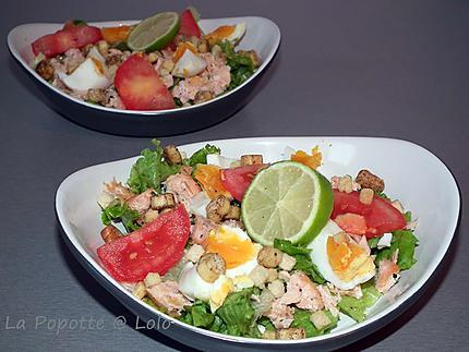 Salade de saumon croustillant