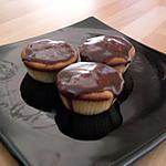 recette cupcakes vanille banane et coulis de caramel au chocolat