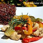 recette Poulet au curry et ses trois poivrons