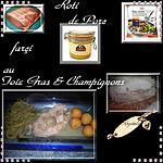 recette roti farçi au foie gras