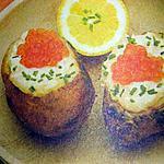 recette Pommes au four farcies au saumon