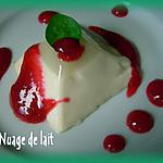 recette Panna Cotta au Basilic et coulis de Groseille