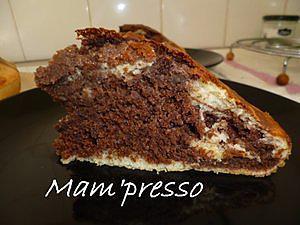 Gâteau marbré (sans beurre ni huile)