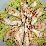 recette Poulet au riz jaune
