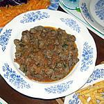 recette Foie en sauce (kebda mchermla)