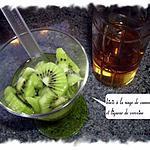 recette kiwis à la nage de camomille et liqueur de verveine