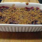 recette crumble aux poires, framboises et spéculoos