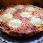 recette tarte à la frangipane, poire et pralinoise