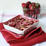 recette Gratin de fraises à la crème de nougat et au pralin