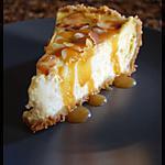 recette cheesecake vanille- amandes et caramel au beurre salé