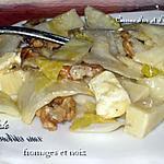 recette Salade d'endives aux fromages et noix
