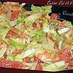 recette chou chinois aux crevettes et pamplemousse