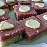 recette Carrés à la framboise, amandes et chocolat blanc