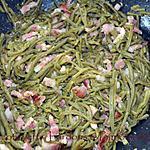 recette Hacots verts, lardons & pignons de pin