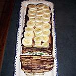 entremet au chocolat et a la banane