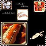 recette filet de merlan au lait de coco