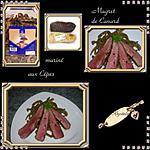 recette magret de canard marinés au cépes