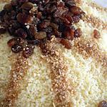 recette couscous aux raisins secs et amandes( seffa)