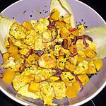 recette Salade tiède de poulet et butternut à l'indienne (régime dukan)