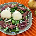 recette Salade poire, noix et roquefort