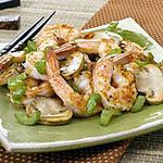 recette Crevettes au gingembre et champignons