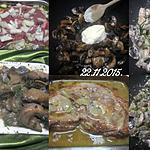 recette Épaule de porc avec os.aux champignons.