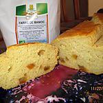 recette cake à l' écorces d'orange confite, sans gluten.