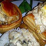 recette Vol-au-vent maison- dinde et champignons