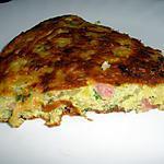 recette Omelette aux coquillettes façon tortilla