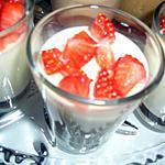 recette Verrines de mousse au chocolat blanc et dés de fraises
