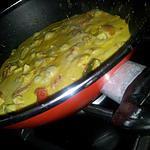 recette Wok de poulet aux poivrons sauce au lait de coco citronée